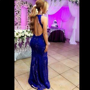 JVN Royal blue gown